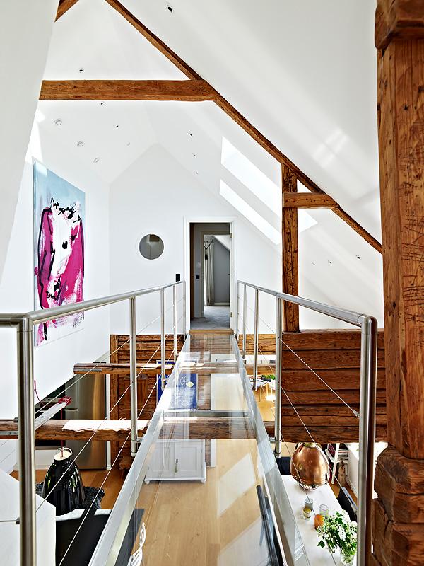 Un techo con vigas de madera   dintelo.es