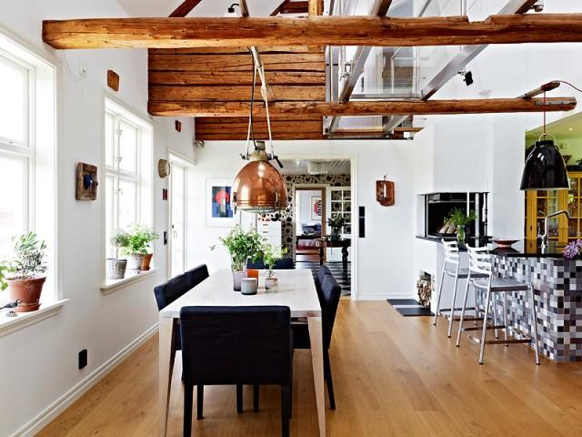 Un techo con vigas de madera - Techos con vigas de madera ...