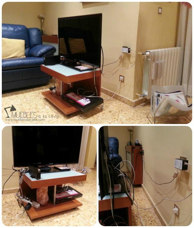 Mueble para televisión, ¡fuera cables!   dintelo.es