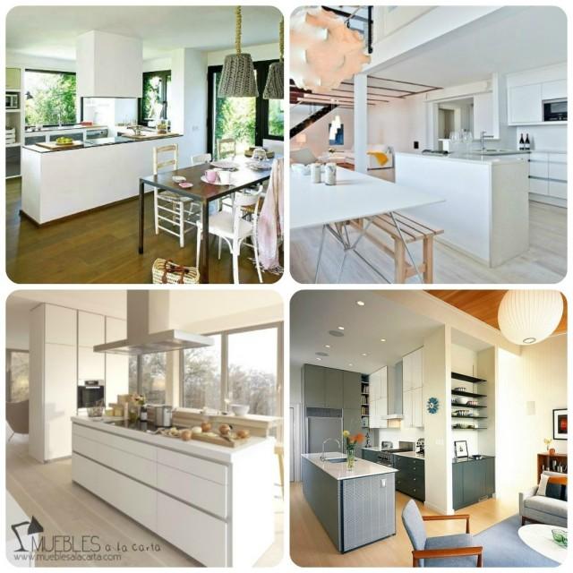 Opciones para distribuir una cocina abierta for Cocinas con isla y salon