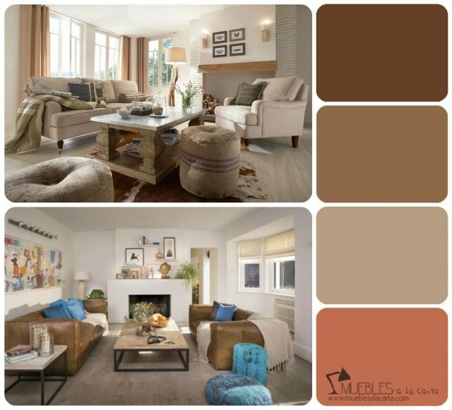 Aprende a escoger tu propia paleta de colores - Colores tierra para salon ...