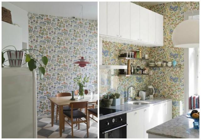 Decorar tus paredes con papel pintado - Decorar paredes cocina ...