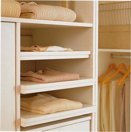 Ideas para organizar el armario for Guias para baldas