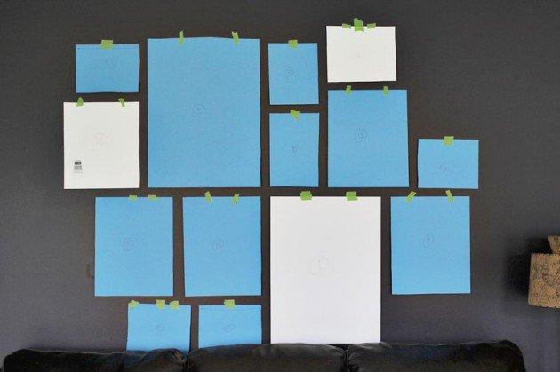 Combinaci n de cuadros en una pared - Composicion cuadros pared ...