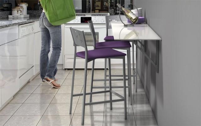 Mesas para cocinas peque as for Mesa de cocina esquinera