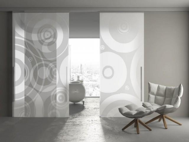 Puertas correderas de cristal for Vidrios decorados para puertas interiores
