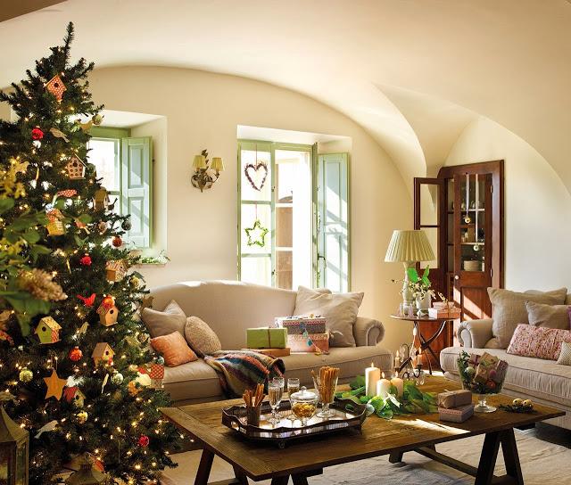 Al Baño Navidad Ha Llegado:La Navidad ha llegado a esta antigua casa de labranza transformada en