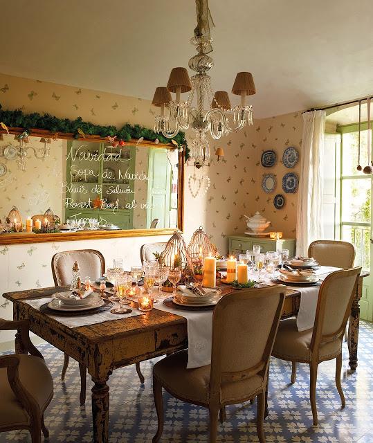 Al Baño Navidad Ha Llegado:Esta cálida casa con encanto en el campo, donde la decoración