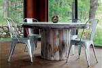 mesas hechas con bobinas