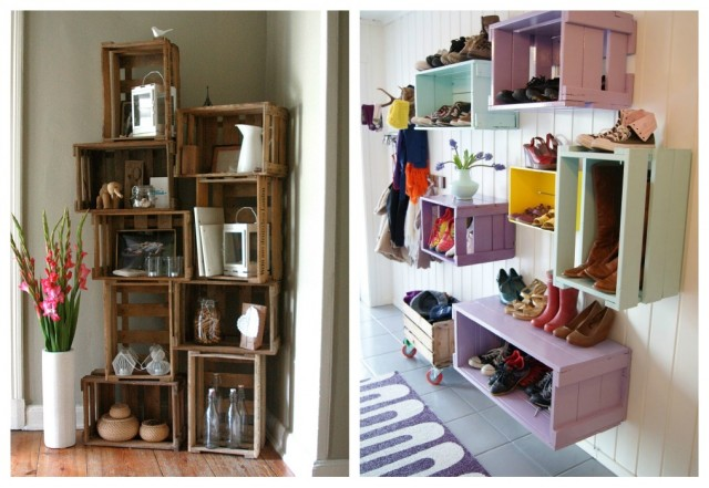 Lugares perfectos para estanterías con cajas de fruta - dintelo.es