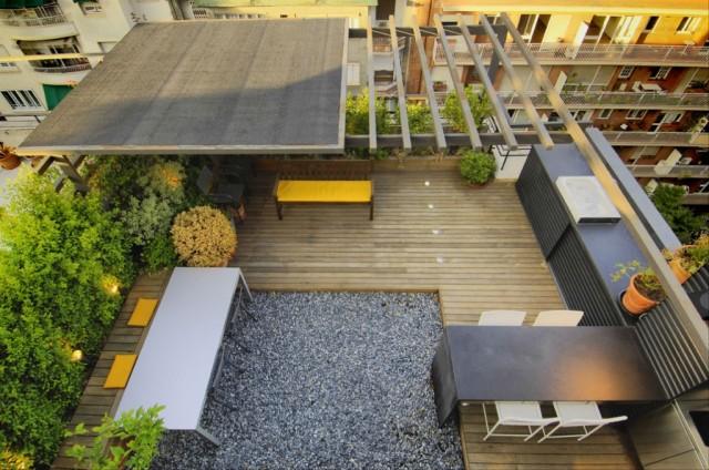 cocina a medida para una terraza urbana