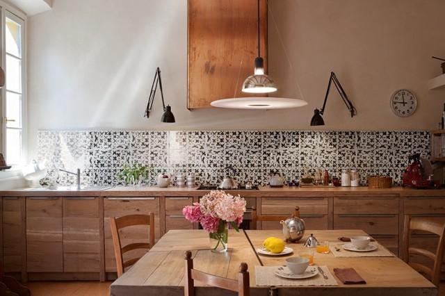 Azulejos de cocina en blanco dise o italiano for Cocina con azulejos blancos