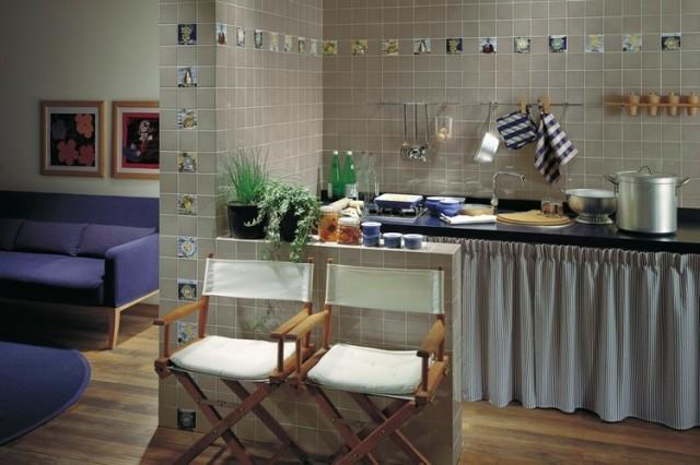 Azulejos de cocina en blanco dise o italiano - Ver cocinas rusticas de obra ...