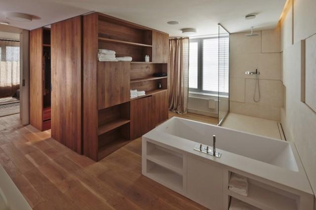 Ba o abierto al dormitorio for Dormitorio con bano