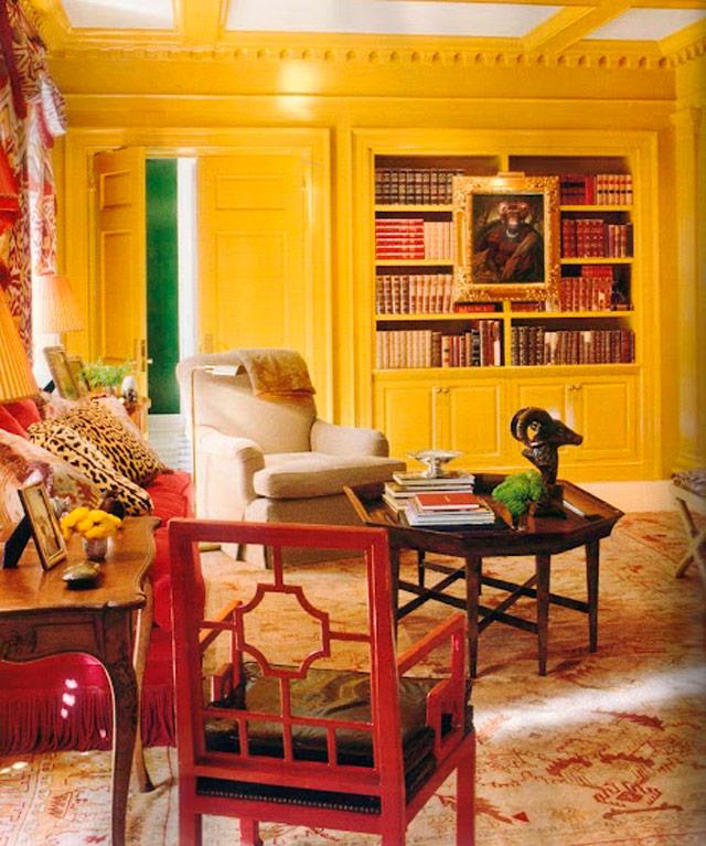 amarillo estudio pared