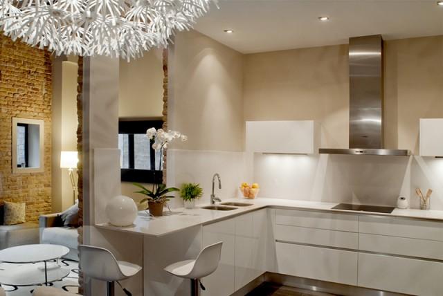 Muebles De Cocina En Forma De L. Elegant Cocina Forma U Moderna ...