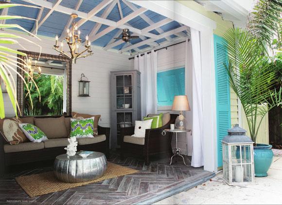 Decorar en azul una elecci n segura - Como decorar un porche abierto ...