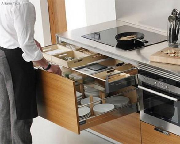 Ideas para aprovechar el espacio en casa Modelos de cocinas modernas para espacios pequenos