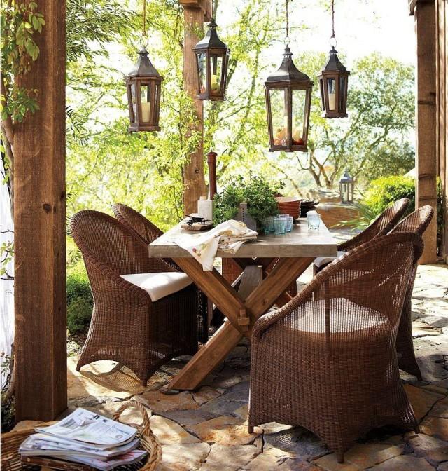 Muebles de mimbre para exterior for Mobiliario para exteriores