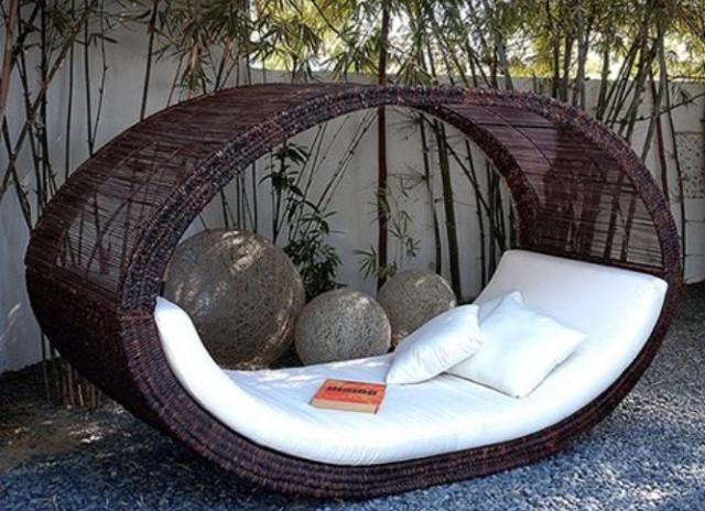 muebles de mimbre para exteriores