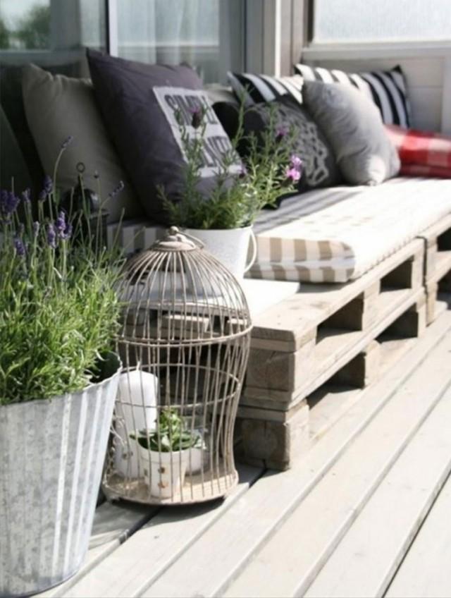 Sof s de palets for Como hacer sofas de palets para jardin