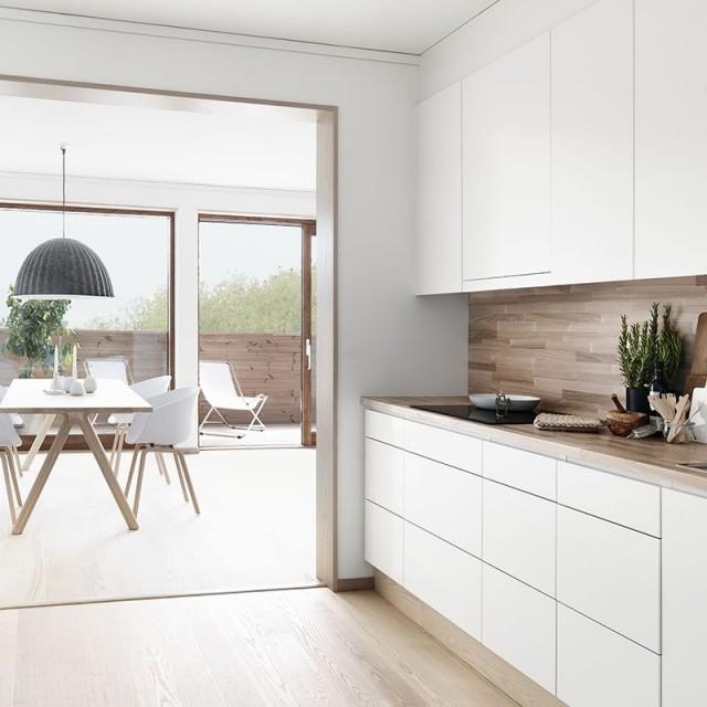 Formas de aplicar la madera en la cocina - Cocinas encimera madera ...
