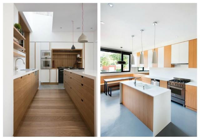 Formas de aplicar la madera en la cocina - Cocina encimera madera ...