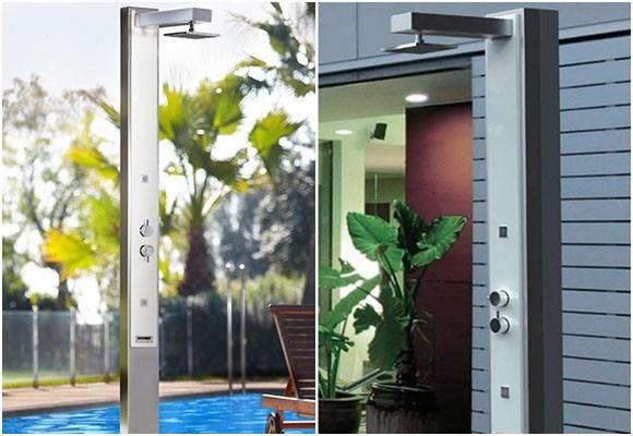 Disfrutar de una ducha de exterior - Duchas solares para piscinas ...