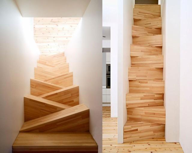 hay escaleras que son originales porque combinan otros usos como bibliotecas cajoneras y estantes