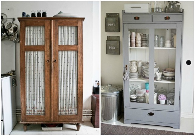 Decorar con armarios antiguos for Distribucion de armarios empotrados por dentro