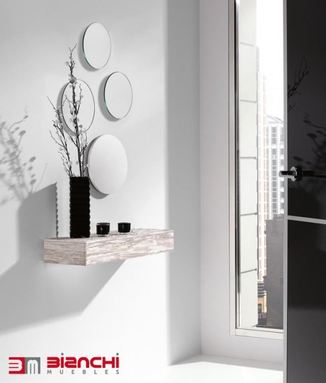 Recibidores para entradas peque as bianchi muebles for Espejos decorativos para entradas